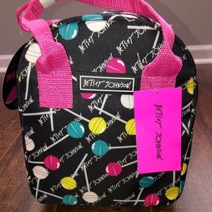 NWT Betsey Johnson Sucker Insulated Lunch Tote